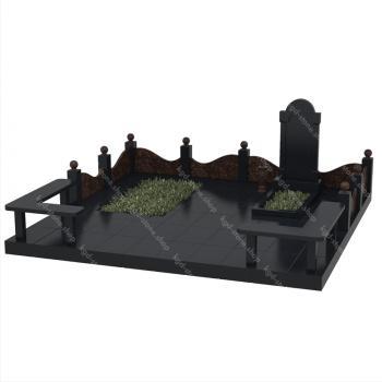 Мемориальный гранитный комплекс из габбро-диабаза и дымовского гранита 001