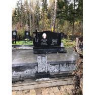 Купить комплекс гранитный из Габбро-Диабаза на могилу с доставкой