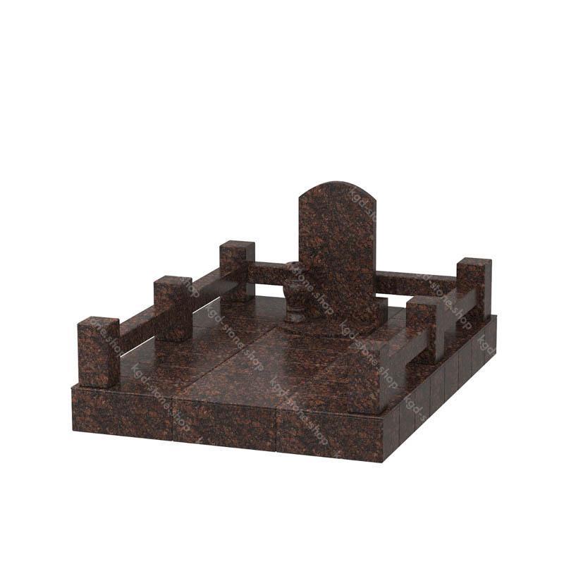 Купить комплекс гранитный из Дымовского гранита на могилу с доставкой