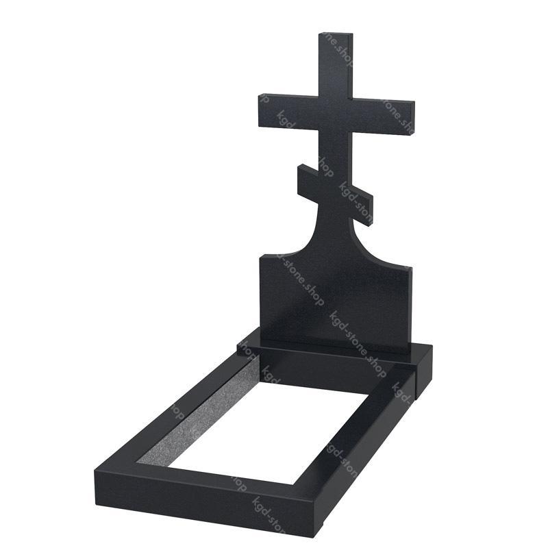 Крест на могилу из гранита габбро-диабаз купить онлайн цена