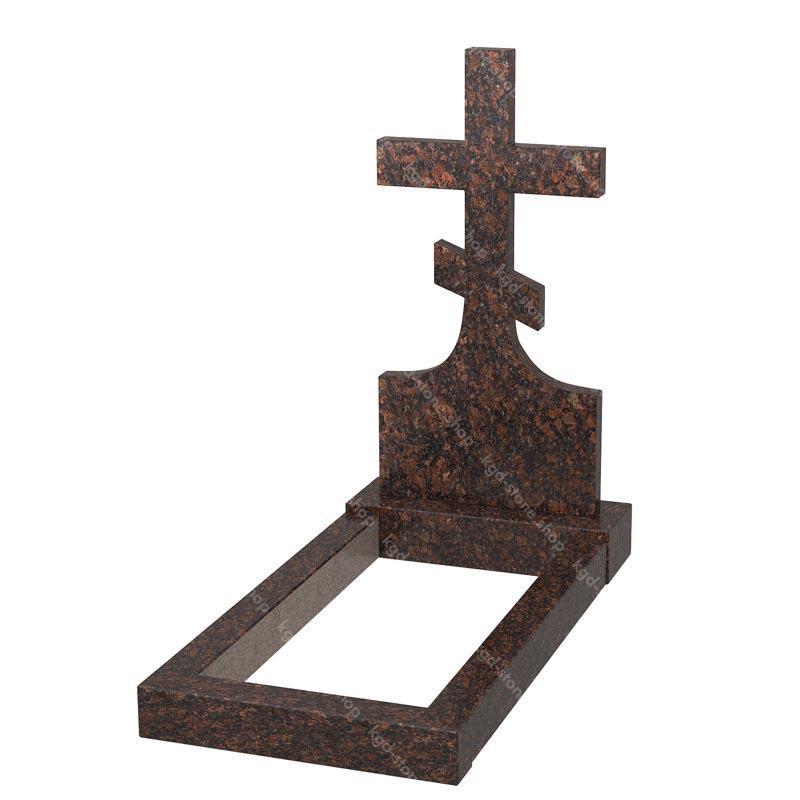 Крест на могилу из дымовского гранита купить онлайн цена