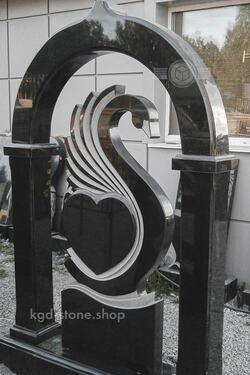 Комплекс из гранита на могилу арка с лебедем