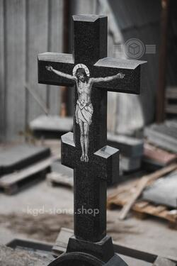 Крест для памятника габбро черный гранит