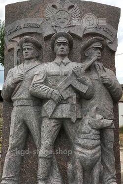 Мемориальный комплекс из гранита защитникам отечества
