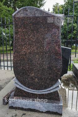 Памятник из дымовского гранита на кладбище